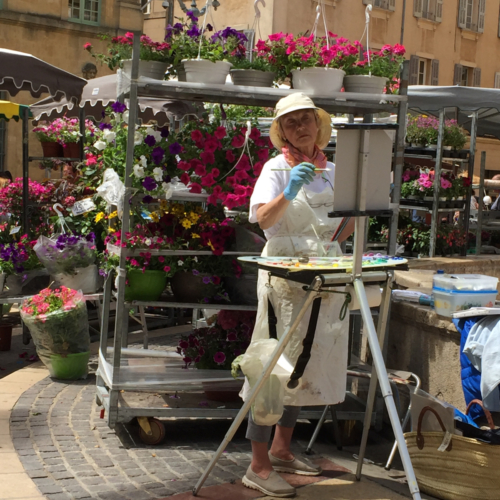 Painting the market in Aix