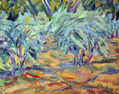 Olive Trees Dancing in the Wind