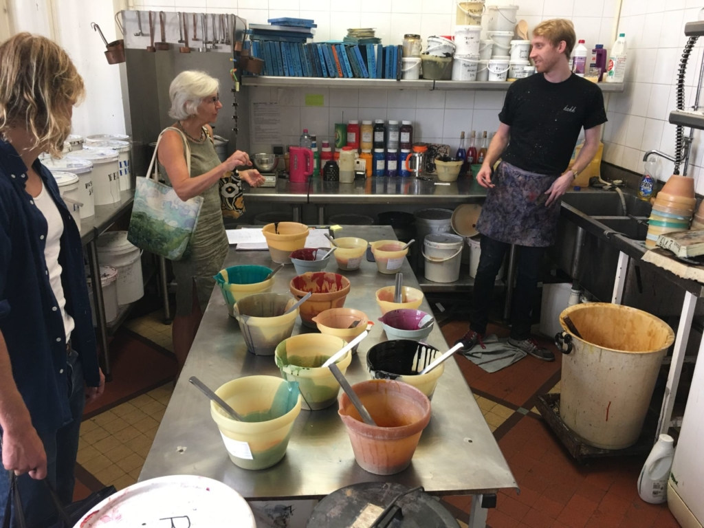 Brochier Soieries Jill Steenhuis Mixing Dye