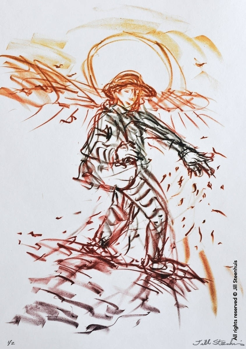 The Sower Went Forth to Sow - Lithograph by Jill Steenhuis