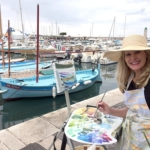 Oil painter at the harbor in Cassis