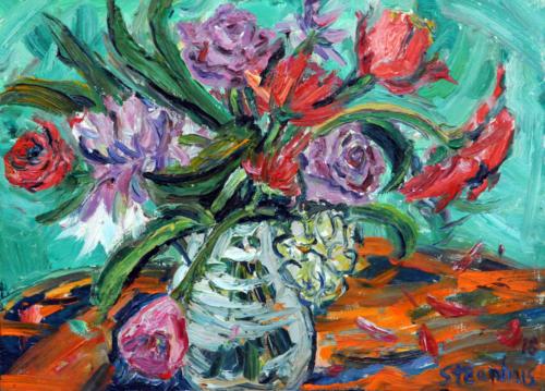 Spring Bouquet in Glass Vase
