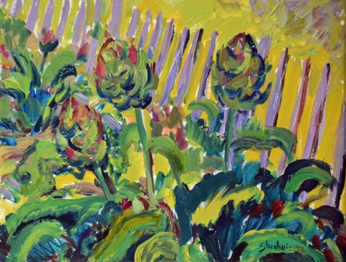 Artichokes in Denise's Garden