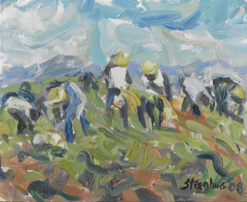 Oil on Canvas Garlic Pickers