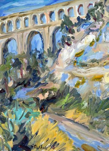 Road to Aqueduct Roquefavor