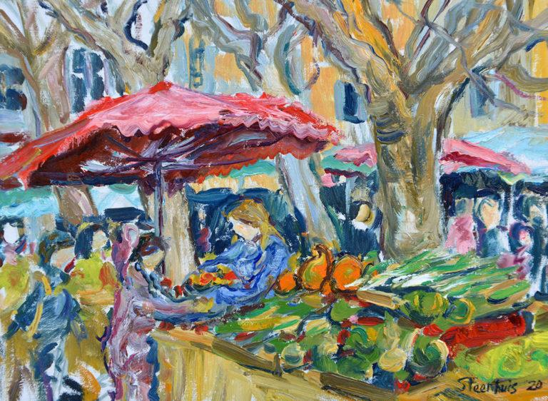 Activity in the Aix Vegetable Market
