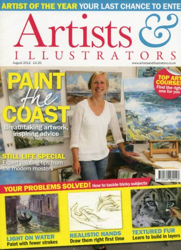 2012 Aug Artists&Illustrators Cover